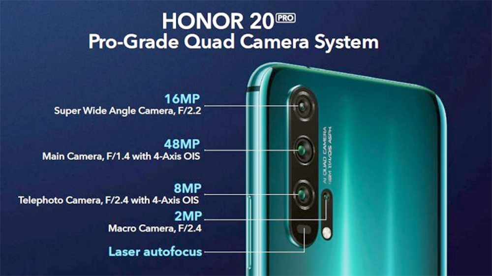 Honor 20 Pro Quad Camera System