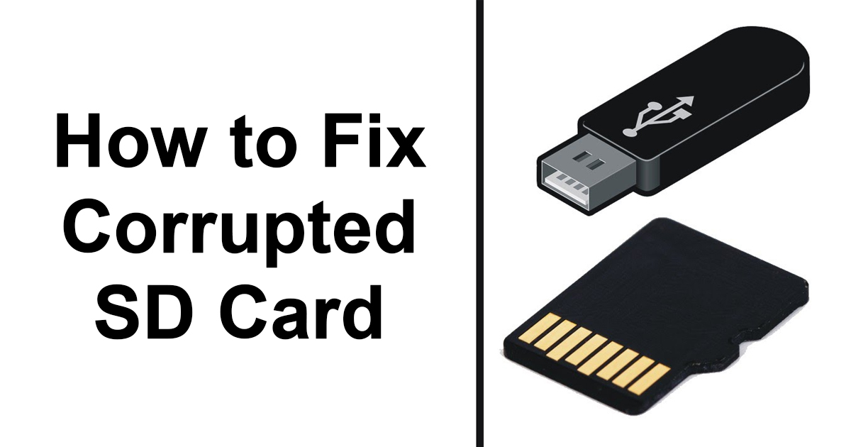 How to Fix Corrupted SD Card - Google Gangs