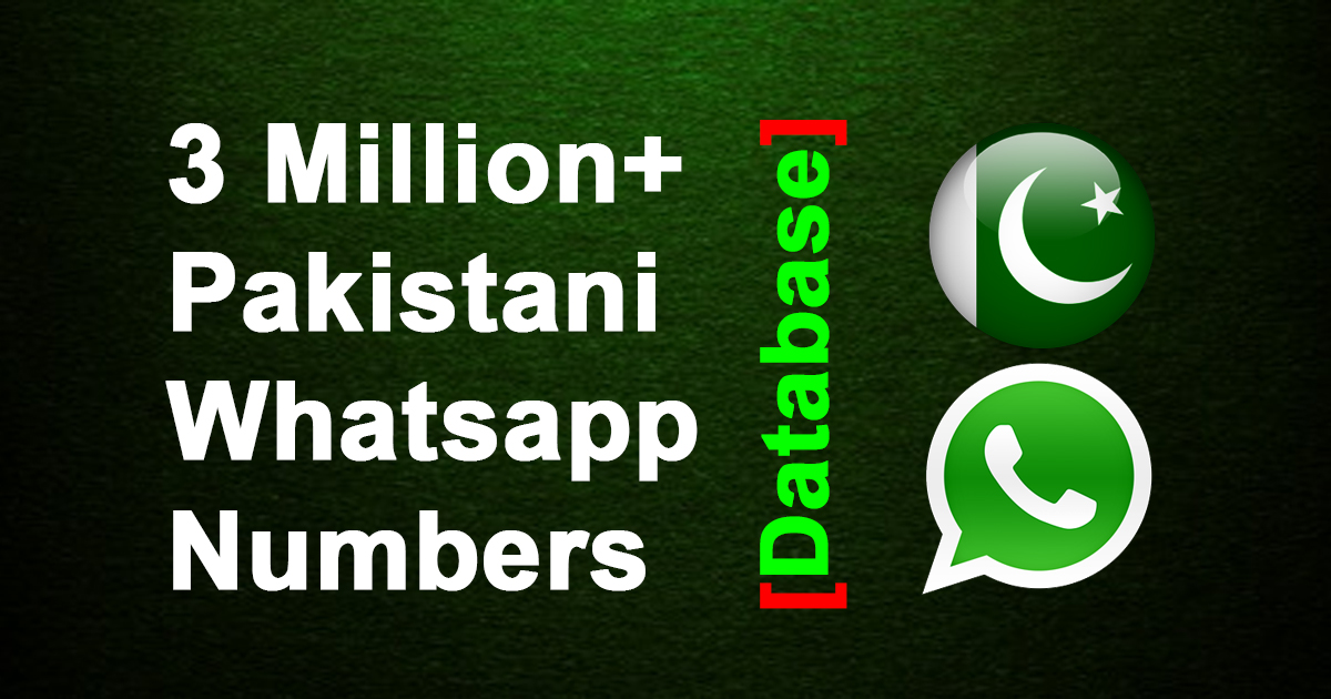 3 Million+ Pakistani Whatsapp Phone Numbers Database