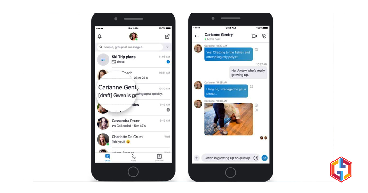 Skype update provides message bookmarks, split window, previews of media