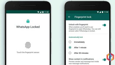 WhatsApp fingerprint lock feature